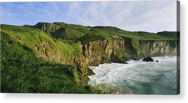 Cloud Acrylic Print featuring the photograph High Angle View Of A Coast, County by The Irish Image Collection