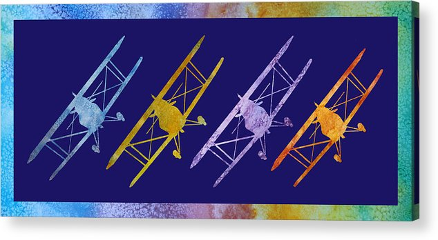 Pitts Acrylic Print featuring the digital art Rainbow Wing by Jenny Armitage