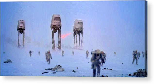 Star Wars Acrylic Print featuring the digital art Star Wars Saga Art by Larry Jones