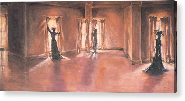 Victorian Acrylic Print featuring the painting Shadows Of Mourning by Linda Crockett