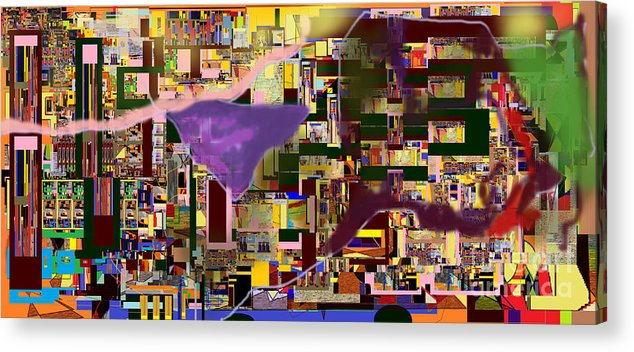 Torah Acrylic Print featuring the digital art Divinely Blessed Marital Harmony 16a by David Baruch Wolk