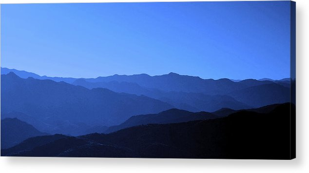 Mountains Acrylic Print featuring the photograph Blue Mountains In Arizona by Angela Rowlands