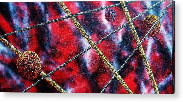Abstract Acrylic Print featuring the painting Continuum Iv Red Sky by Micah Guenther