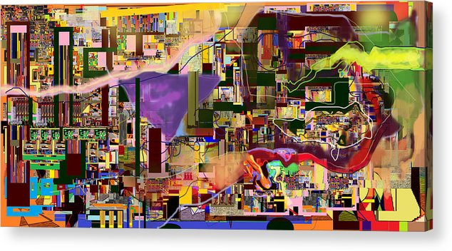 Torah Acrylic Print featuring the digital art Divinely Blessed Marital Harmony 16e by David Baruch Wolk