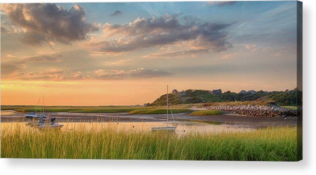 Scenics Acrylic Print featuring the photograph Pamet Harbor In Afternoon by Betty Wiley
