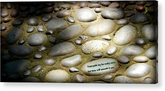 Pebble Prints Acrylic Print featuring the photograph Path Of Pebbles by Lynn Griffin