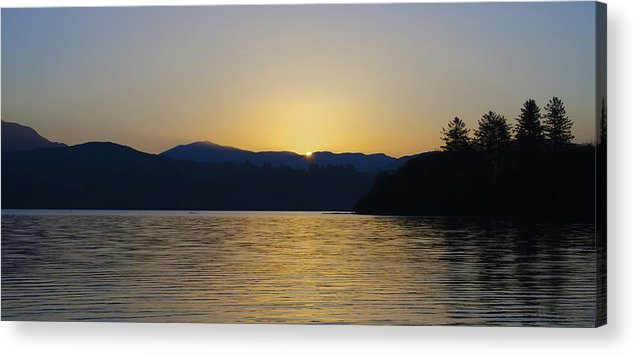 Sunrise Acrylic Print featuring the photograph Sunrise Over Lough Eske And The Bluestack Mountains by Bill Cannon