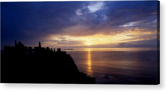 Antrim Acrylic Print featuring the photograph Dunluce Castle At Sunset, Co Antrim by The Irish Image Collection