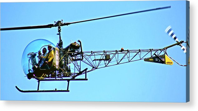 Helicopter Acrylic Print featuring the photograph Mash Heli by Dieter Lesche
