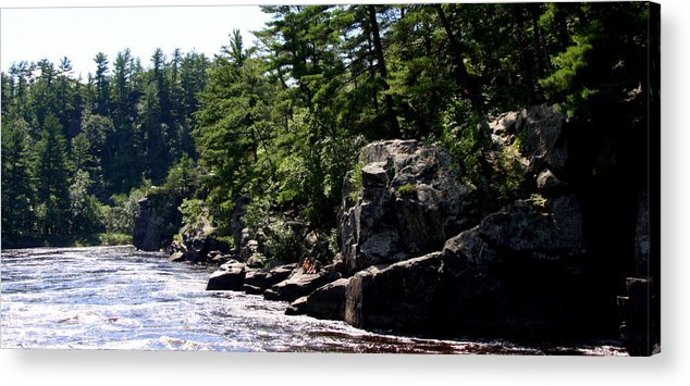 St Croix River Photographs Acrylic Print featuring the photograph Rock Bluffs On The St Croix by Tam Graff