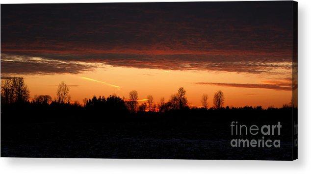 Silhouette Acrylic Print featuring the photograph Sunset Warmth by Wendy Jackson