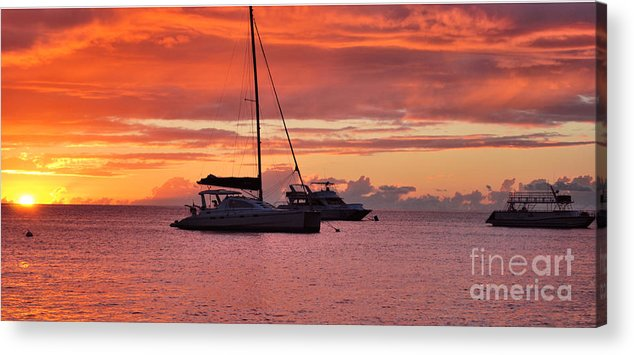 Sunsets Acrylic Print featuring the photograph Tropical Sunset by Josiah St Jean