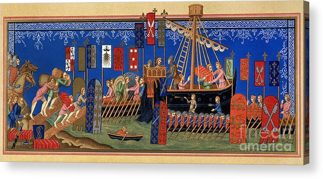14th Century Acrylic Print featuring the painting Crusades 14th Century by Granger