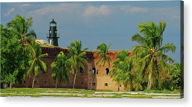 Fort Acrylic Print featuring the photograph Fort Jefferson by Henri Irizarri