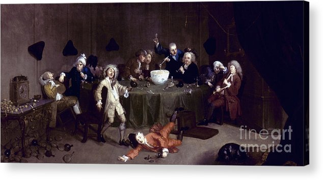 18th Century Acrylic Print featuring the photograph Hogarth: Midnight, 1731 by Granger