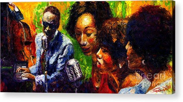Jazz Acrylic Print featuring the painting Jazz Ray Song by Yuriy Shevchuk