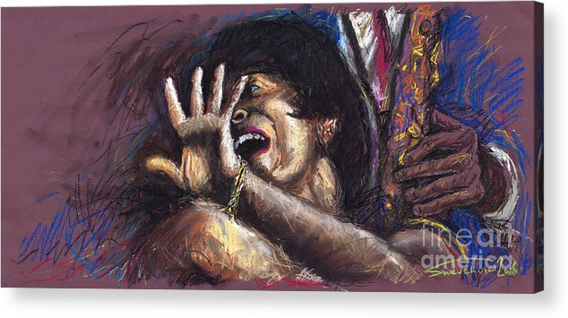 Jazz Acrylic Print featuring the painting Jazz Song 1 by Yuriy Shevchuk