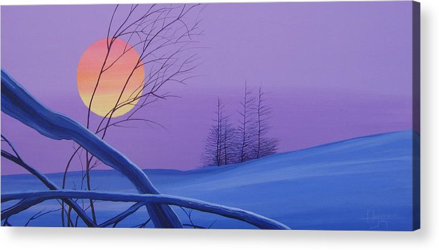 Mountains Acrylic Print featuring the painting Silent Snow by Hunter Jay