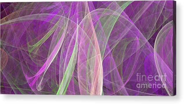 Paisley Acrylic Print featuring the digital art Colorful Figures by Odon Czintos