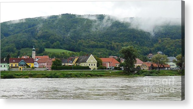 River Acrylic Print featuring the photograph Along The Blue Danube by Lisa Kilby
