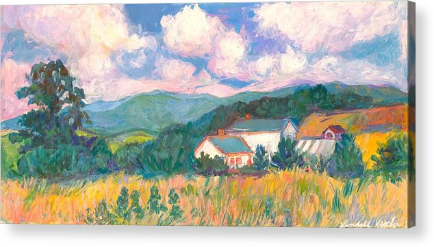 Clouds Acrylic Print featuring the painting Blacksburg Clouds by Kendall Kessler