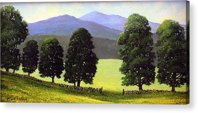 Landscape Acrylic Print featuring the painting Old Wall Old Maples by Frank Wilson