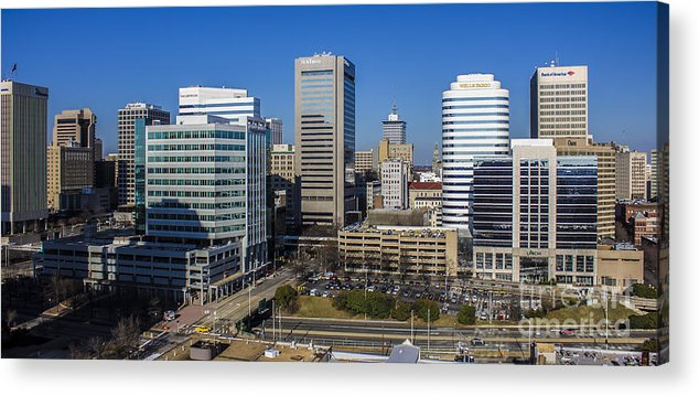 300 Places Usa Acrylic Print featuring the photograph Richmond Skyline by Debra K Roberts
