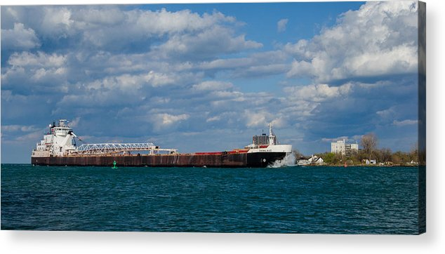 Christopher List Acrylic Print featuring the photograph Sam Laud Off Belle Isle by Gales Of November