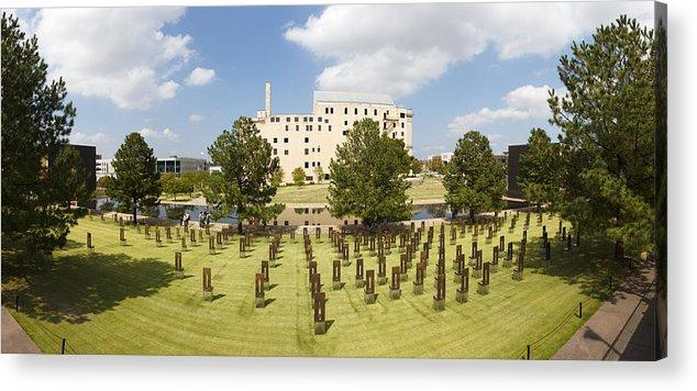 National Acrylic Print featuring the photograph Oklahoma City National Memorial by Ricky Barnard