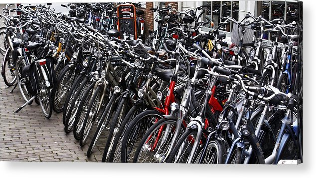 Bike Acrylic Print featuring the photograph Mine's The Blue One In The Back by John Black