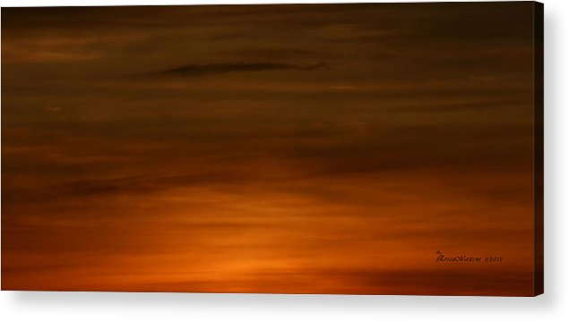 Clouds Acrylic Print featuring the photograph Red Clouds At Night by Ericamaxine Price