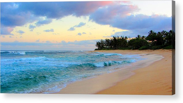 sunset beach hawaii acrylic print by brad scott