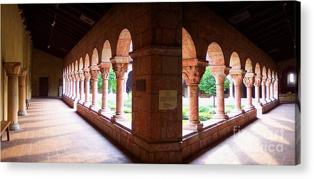 Cloisters Acrylic Print featuring the photograph The Cloisters by Anne Ferguson