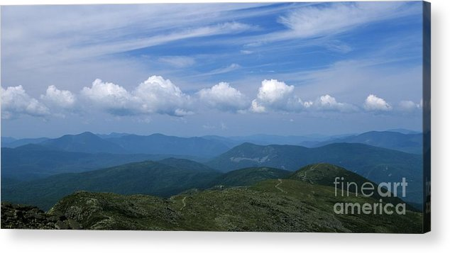 Appalachian Trail Acrylic Print featuring the photograph Appalachian Trail - White Mountains New Hampshire Usa by Erin Paul Donovan