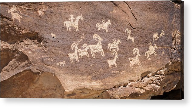 Arch Acrylic Print featuring the photograph Ancient Hieroglyphics In Arches National Park by Elijah Weber