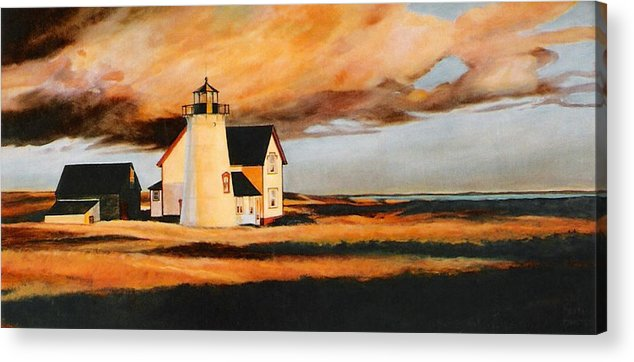 Cape Cod Acrylic Print featuring the painting Forgotten Light by Keith Gantos