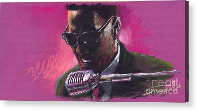 Jazz Acrylic Print featuring the painting Jazz. Ray Charles.1. by Yuriy Shevchuk