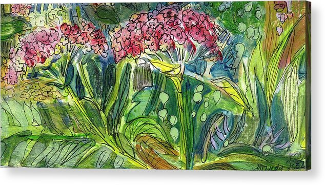 Art Acrylic Print featuring the drawing Piinta The Butterfly Flower by Mindy Newman