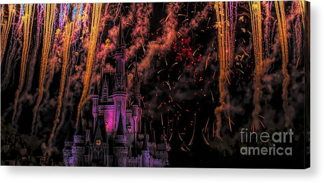 Disney Acrylic Print featuring the photograph The Magic Of Disney by Paulette Thomas