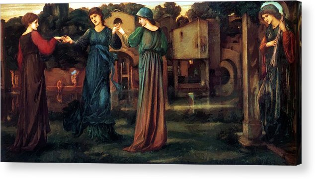 The Acrylic Print featuring the painting The Mill 1882 by BurneJones Edward