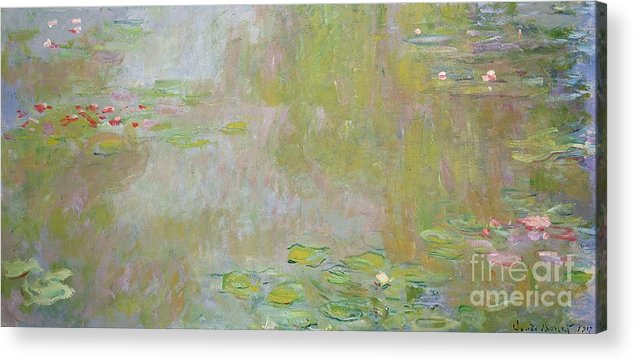 Waterlilies At Giverny Acrylic Print featuring the painting Waterlilies At Giverny by Claude Monet