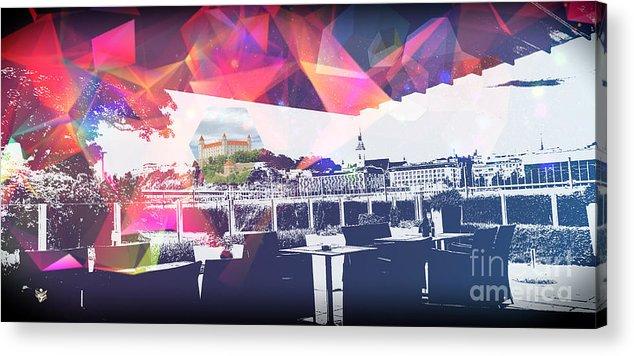City Art Acrylic Print featuring the digital art Bratislava by Ron Labryzz