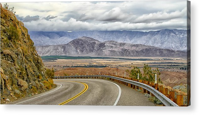 Borrego Springs Acrylic Print featuring the digital art Montezuma Grade by Thomas Kaestner
