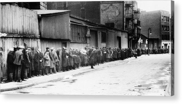 1930 Acrylic Print featuring the photograph New York City Bread Line by Granger