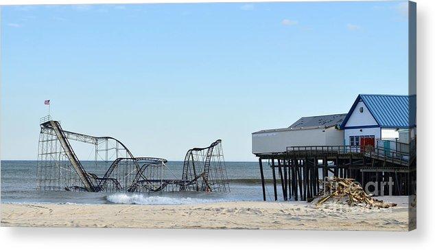 Pano Acrylic Print featuring the photograph Seaside Heights Jetstar by Sami Martin
