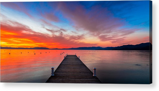Sunset Acrylic Print featuring the photograph Sunset Walkway by Edgars Erglis