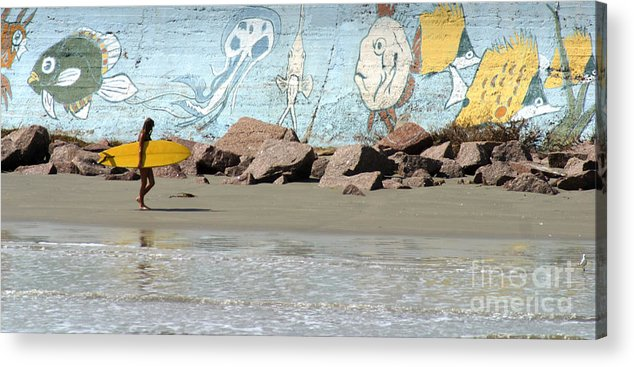 Gary Gingrich Acrylic Print featuring the photograph Surfer Beach 1034b by Gary Gingrich Galleries