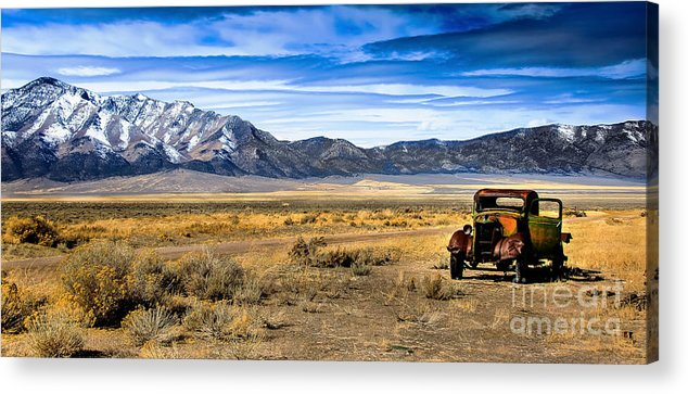 Old Truck Acrylic Print featuring the photograph The Old One by Robert Bales
