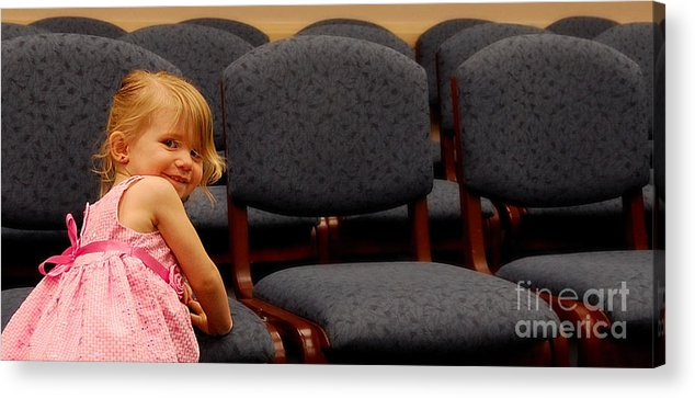 Girls Acrylic Print featuring the photograph A Chair For Me by Steven Milner