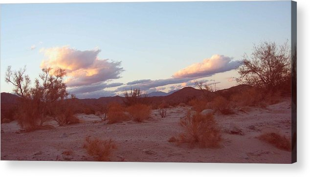 Nature Acrylic Print featuring the photograph Desert And Sky by Naxart Studio
